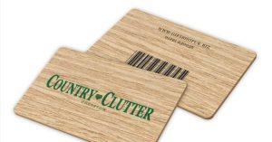 Wooden rewards card